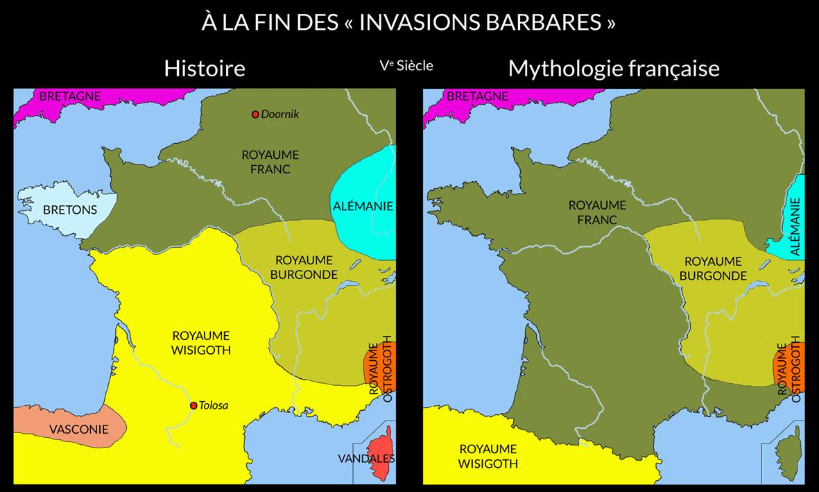 À la fin des invasions barbares. Ve Siècle.